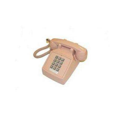 Desk Corded Telephone with Volume Control - Beige