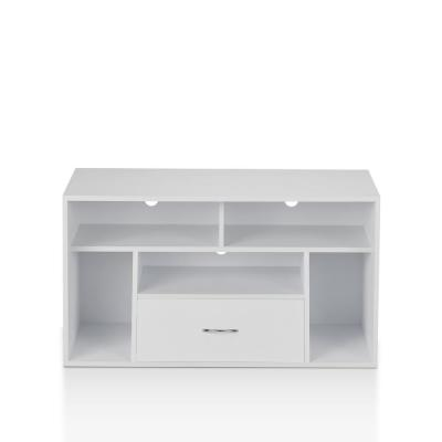 Cher 39 in. White Wood TV Stand with 1 Drawer Fits TVs Up to 39 in. with Cable Management
