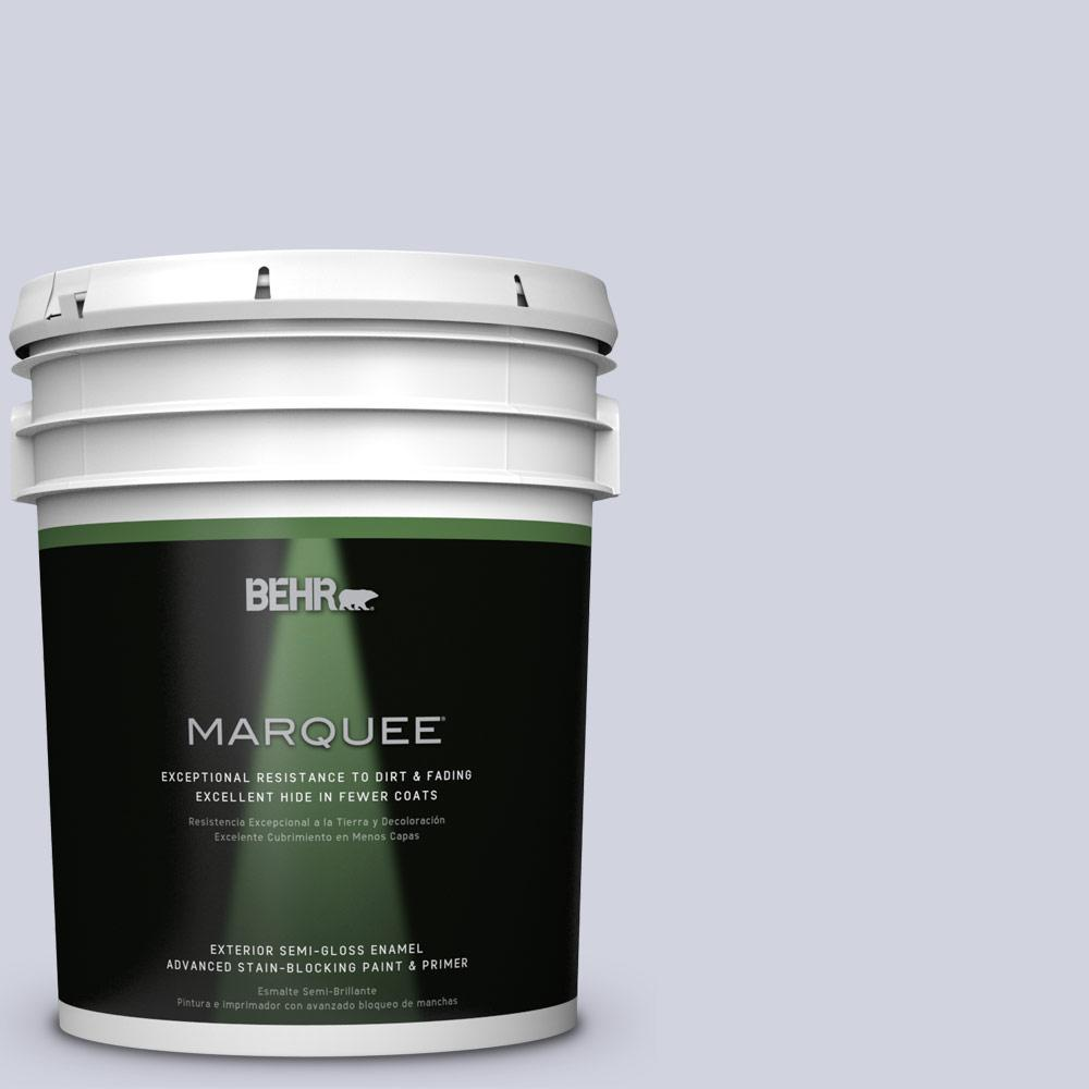 BEHR MARQUEE 5-gal. #S560-1 Courteous Semi-Gloss Enamel Exterior Paint