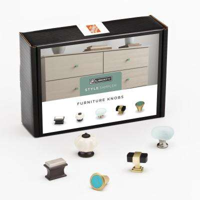 Furniture Cabinet Knob Sample Box (5-Pack)