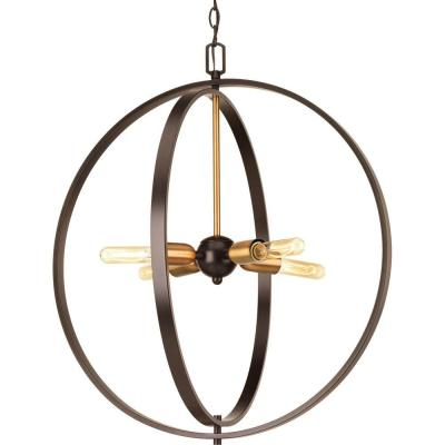 Swing 4-Light Antique Bronze Foyer Pendant