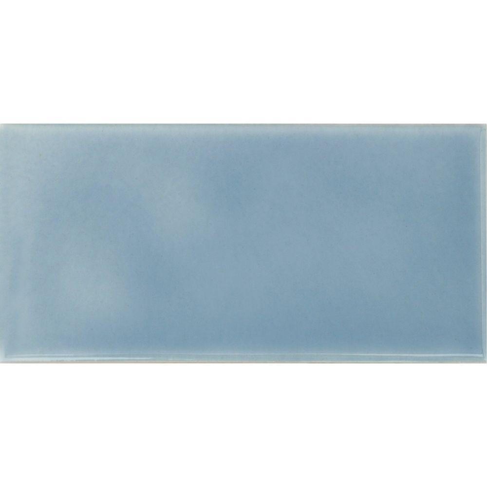 Baby Blue Ceramic Tile - Tile Designs