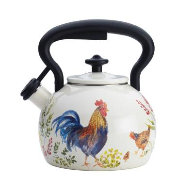 8-Cup Stovetop Tea Kettle in Garden Rooster