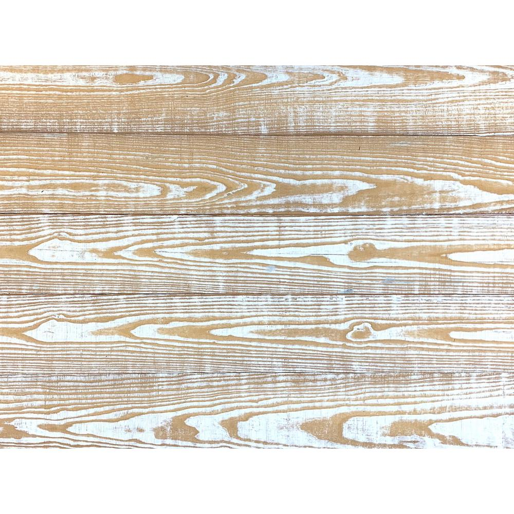 Easy Planking Thermo-Treated 1/4 in. x 5 in. x 4 ft. Whitewash Barn Wood Wall Planks (10 sq. ft. per 6-Pack)
