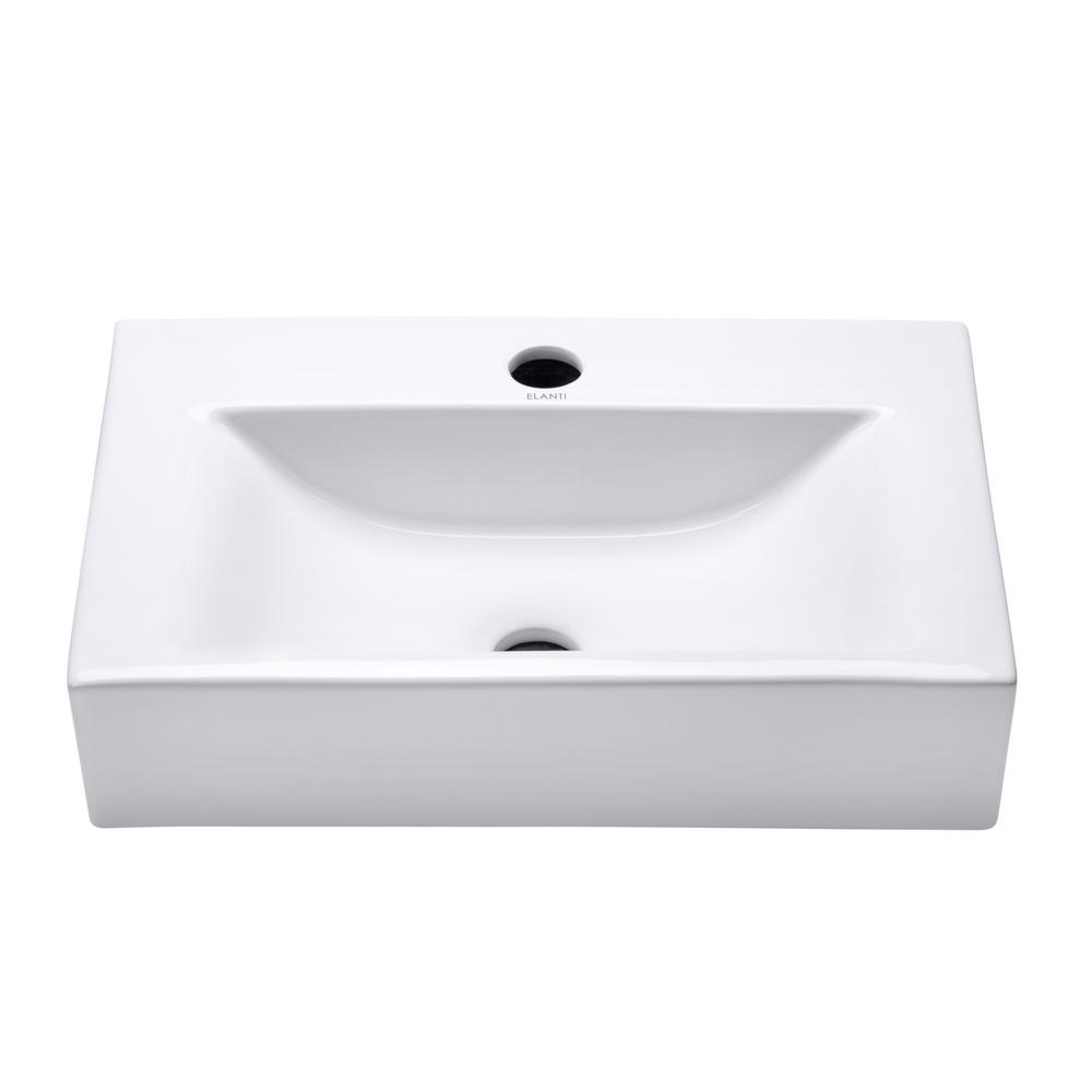 Elanti Solid Body Vessel Sink In White Ec1601 The Home Depot