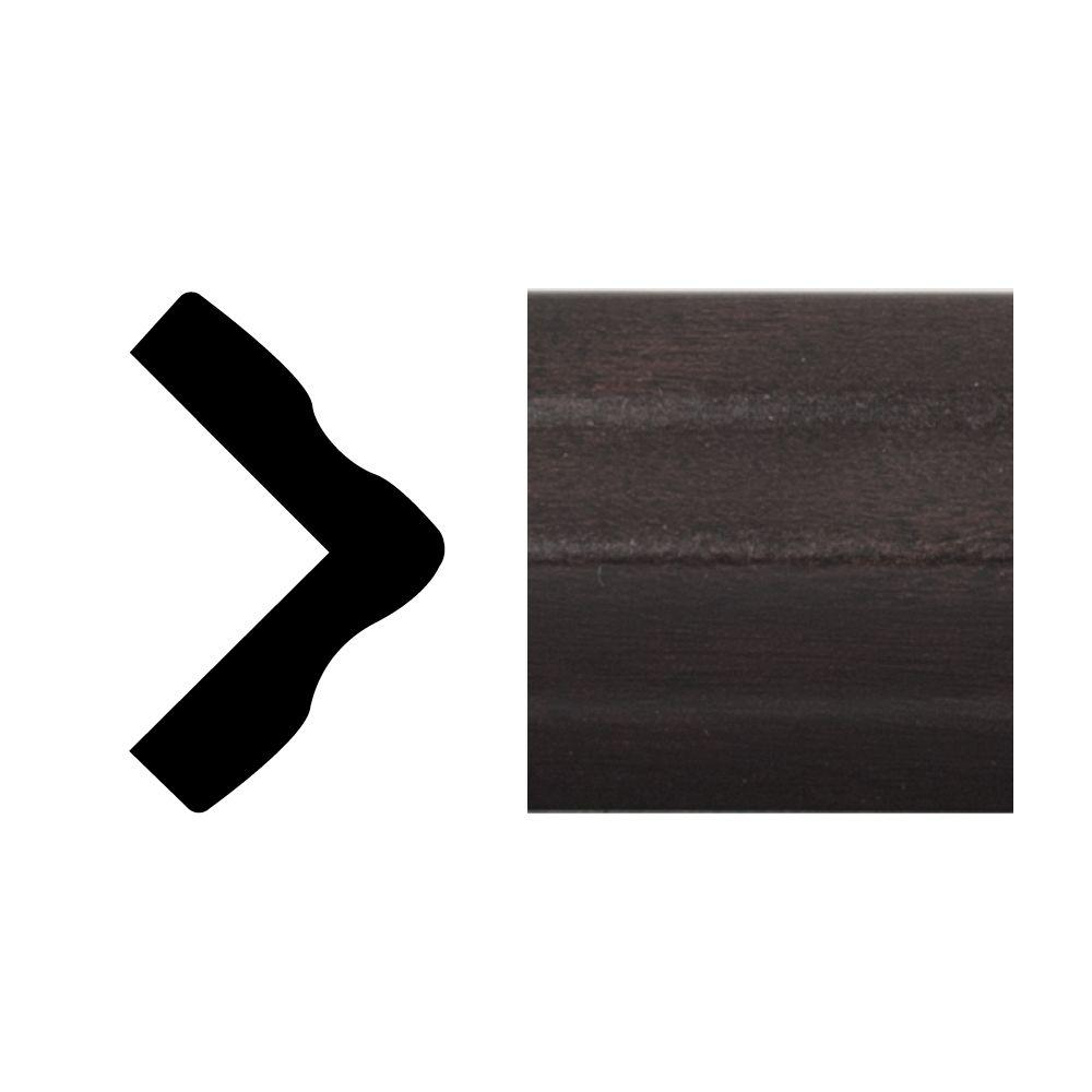 Royal Mouldings 5165 1 in. x 1 in. x 8 ft. PVC Composite Espresso Outside Corner Moulding