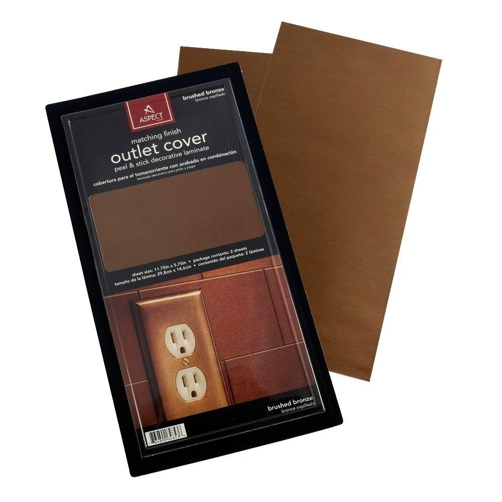 Aspect Vinyl Peel and Stick Bronze Outlet Cover (2-Pack)