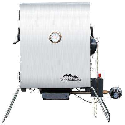 Portable Propane Smoker in Stainless Steel