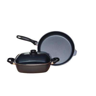 Induction 3-Piece Assorted Cookware Set, Fry Pan and Square Casserole