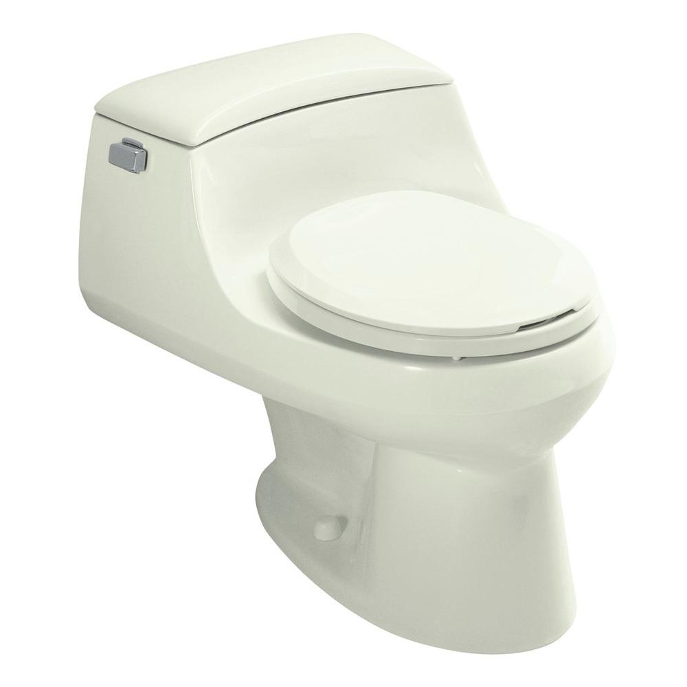 KOHLER San Raphael 1-Piece 1.6 GPF Round Front Toilet in Tea Green-DISCONTINUED