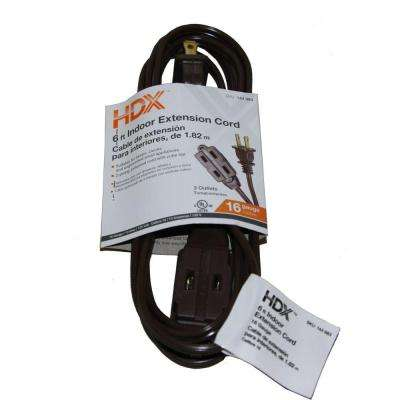 6 ft. 16/2 SPT-2 Cube Tap Extension Cord - Brown