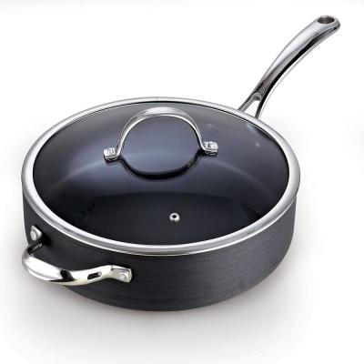 5 Qt. 11 in. Non-Stick Hard Anodized Deep Saute Pan with Lid