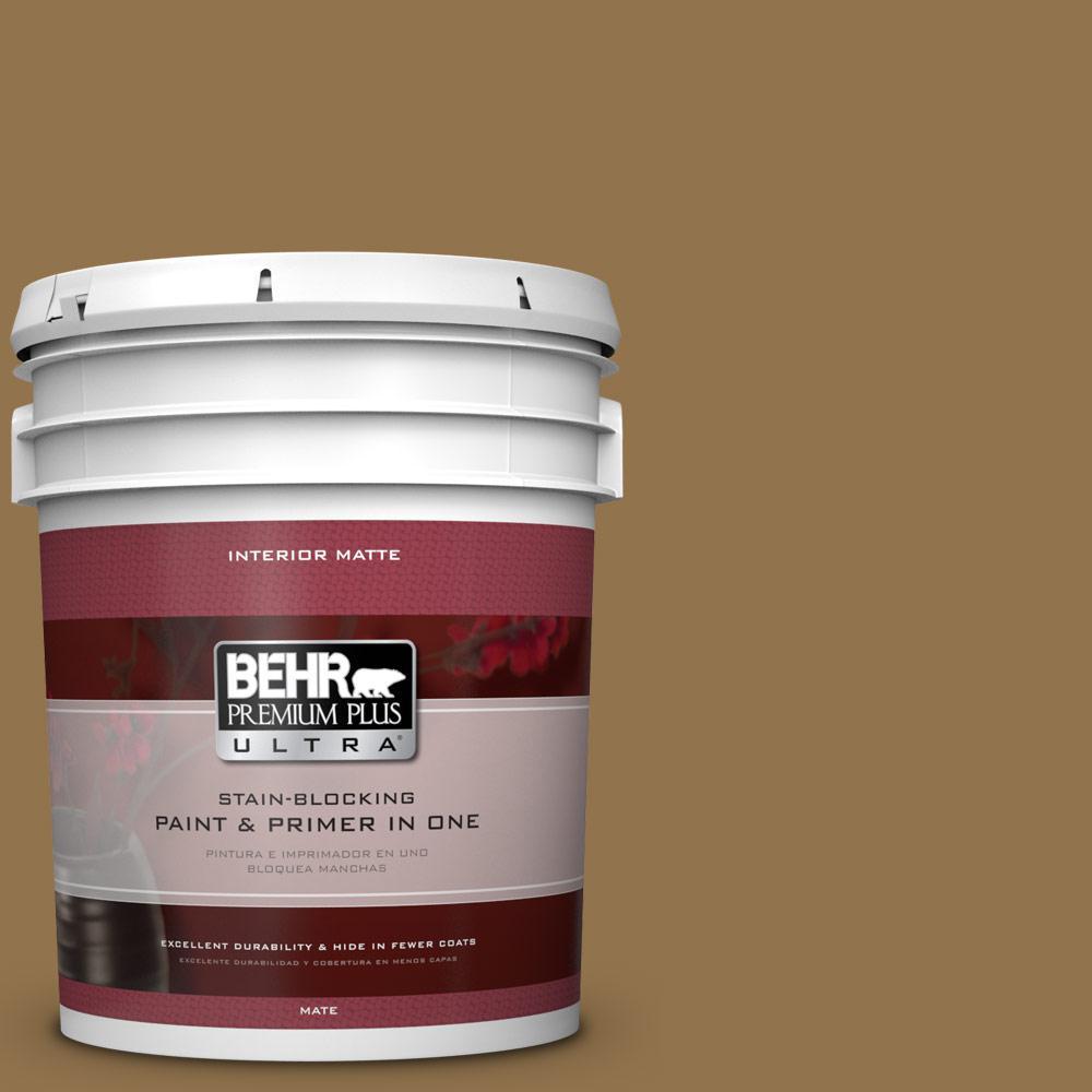 BEHR Premium Plus Ultra 5 gal. #N290-7 Marrakech Brown Matte Interior Paint