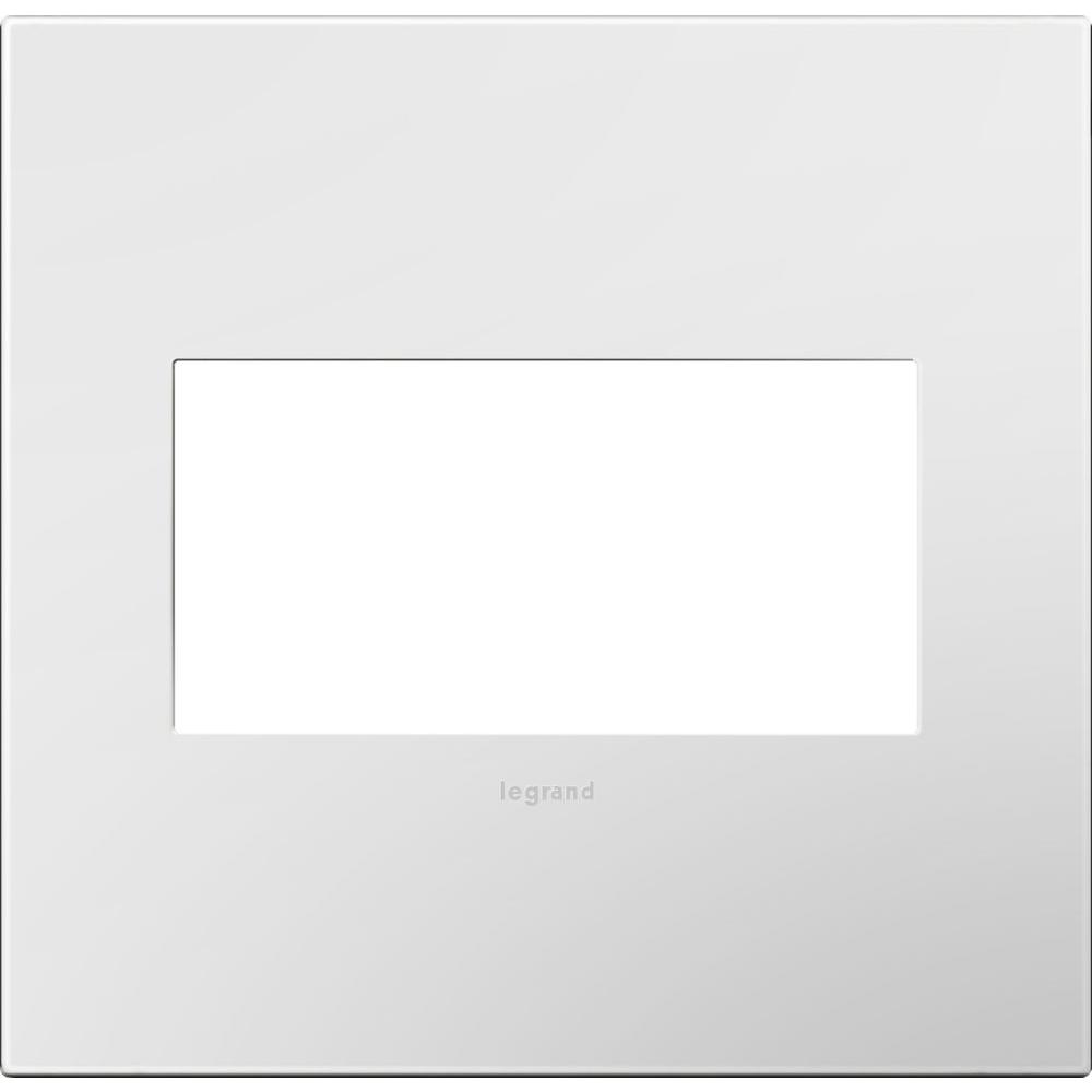 2-Gang 2 Module Wall Plate, Gloss White