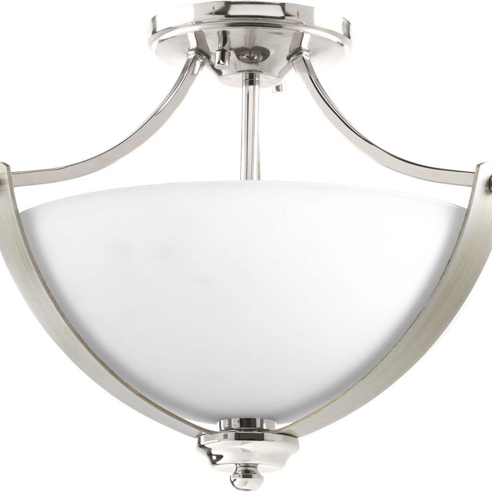 Noma Collection 2-Light Polished Nickel Semi-Flush Mount