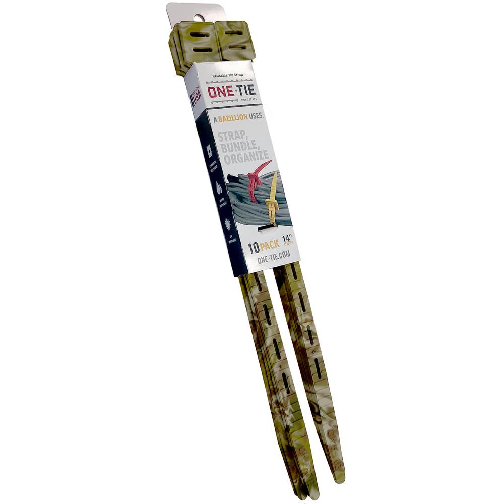 14 in. Cable Ties, Camo (10-Pack)