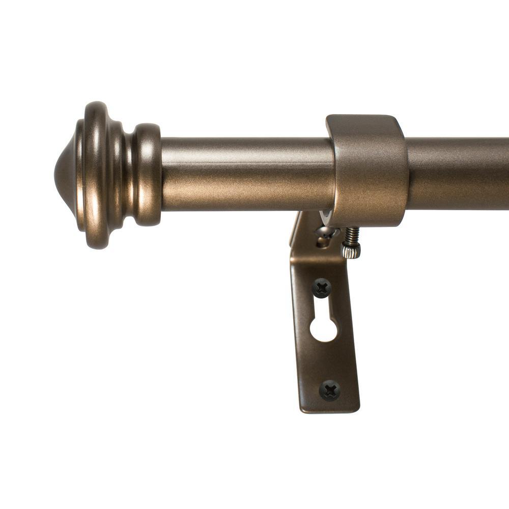 18 in. - 36 in. Cap Telescoping 3/4 in. Dia Rod Set in Bronze