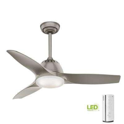 Led Indoor Pewter Ceiling Fan With Remote Control
