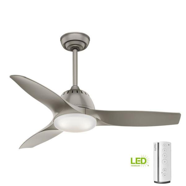 Wisp 44 in. LED Indoor Pewter Ceiling Fan with Remote Control