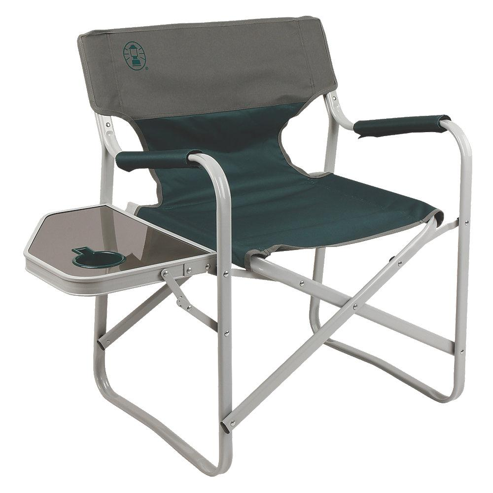 Outpost Elite Deck Chair W Side Table Large Portable Lounge Folding