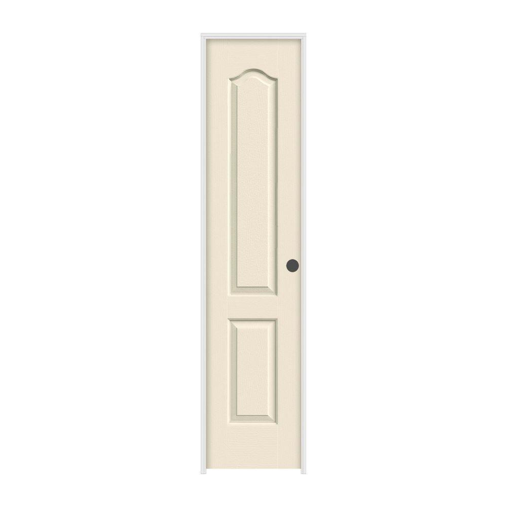 JELD-WEN 18 in. x 80 in. Camden Primed Left-Hand Textured Solid Core Molded Composite MDF Single Prehung Interior Door