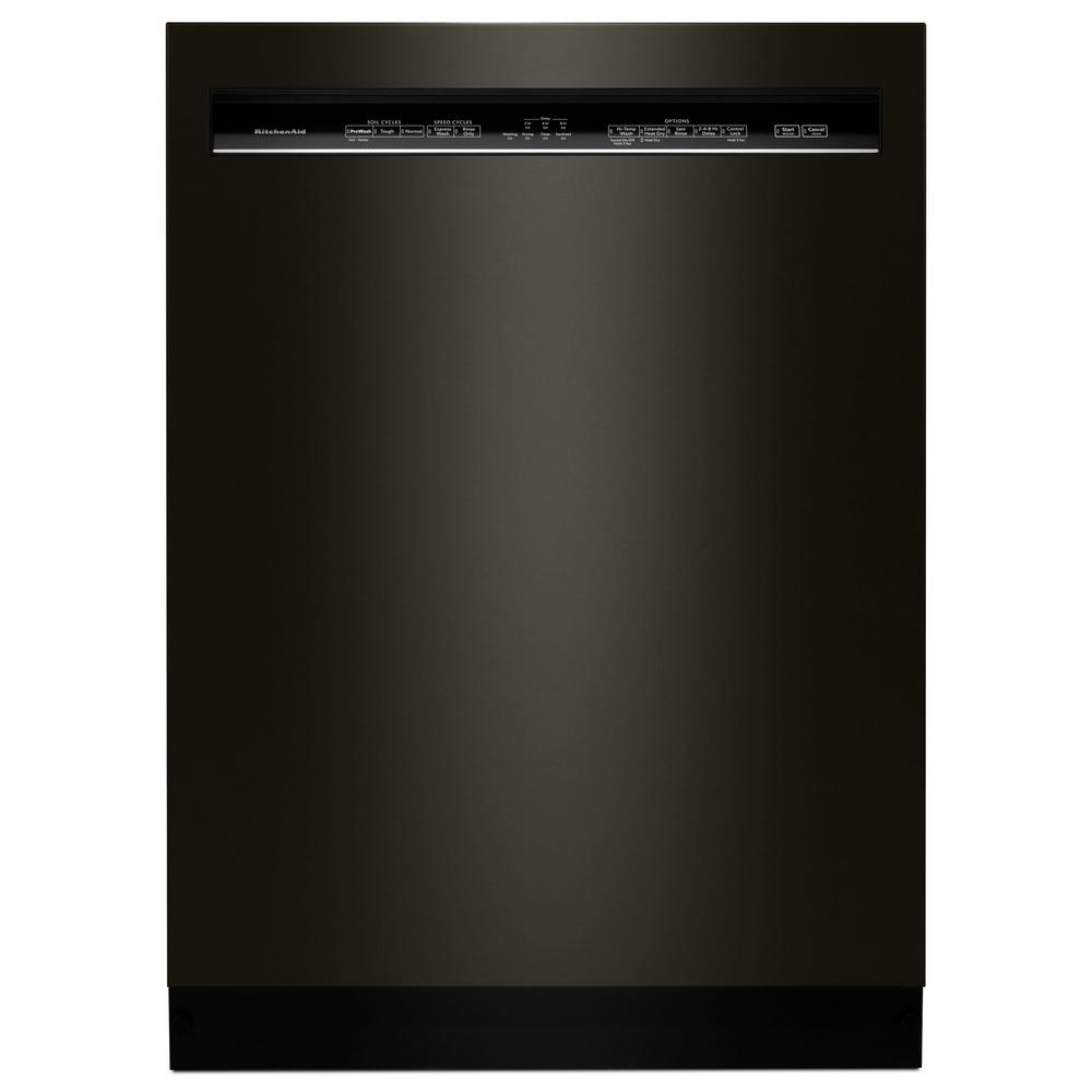 KitchenAid Front Control Built-in Tall Tub Dishwasher in PrintShield Black Stainless with ProWash, 46 dBA