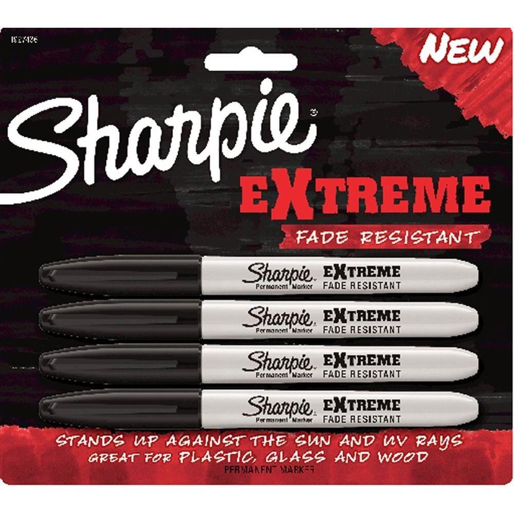 Extreme Black Marker Carded (4-Pack)