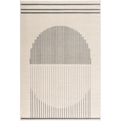 Deco 6 ft. x 9 ft. Area Rug in Off-White