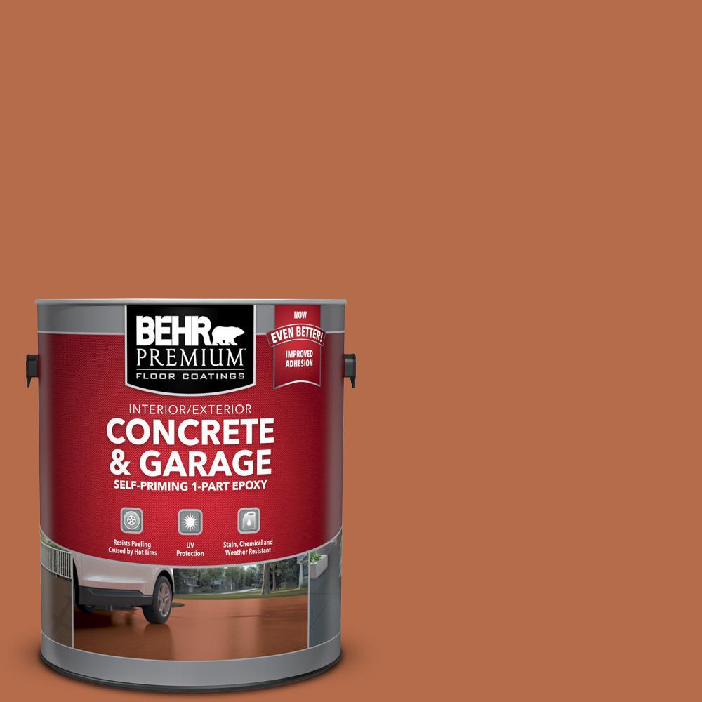 BEHR Premium 1 gal. #M210-7 Thanksgiving Self-Priming 1-Part Epoxy Satin Interior/Exterior Concrete and Garage Floor Paint