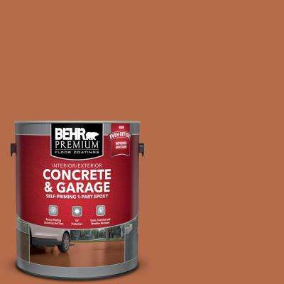 1 gal. #M210-7 Thanksgiving Self-Priming 1-Part Epoxy Satin Interior/Exterior Concrete and Garage Floor Paint