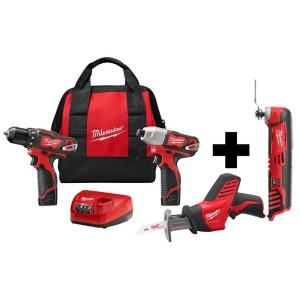 Deals on Milwaukee M12 12-V Li-Ion Cordless 3-Tool Kit + M12 Tool
