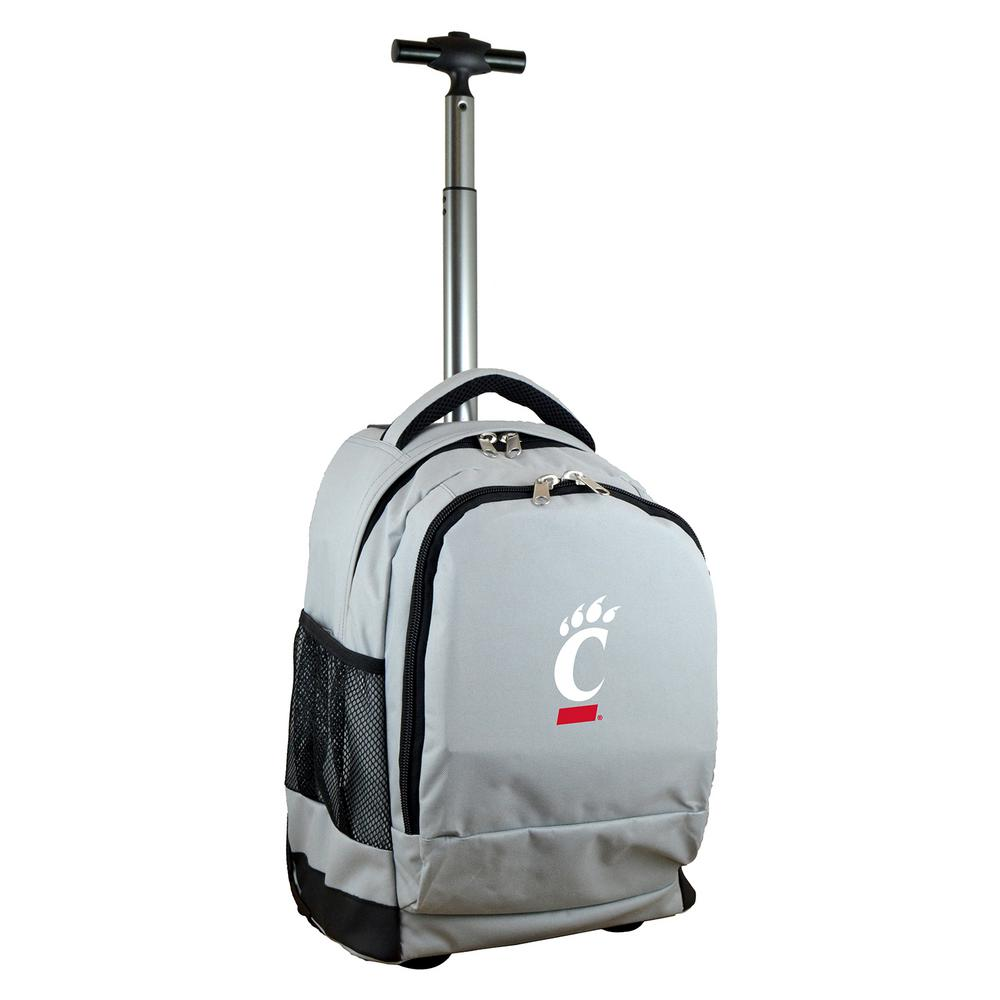 NCAA Cincinnati 19 in. Gray Wheeled Premium Backpack