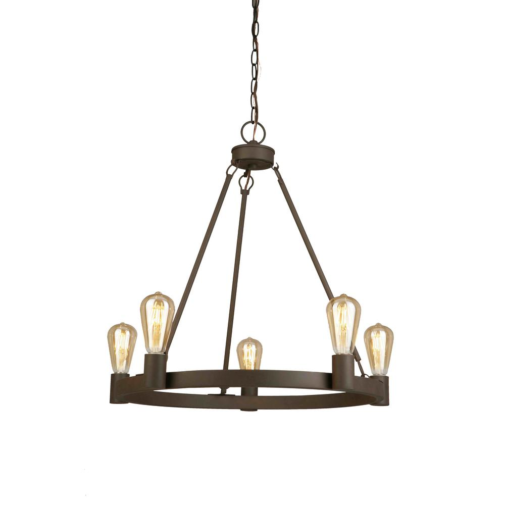 5 light oil rubbed bronze chandelier