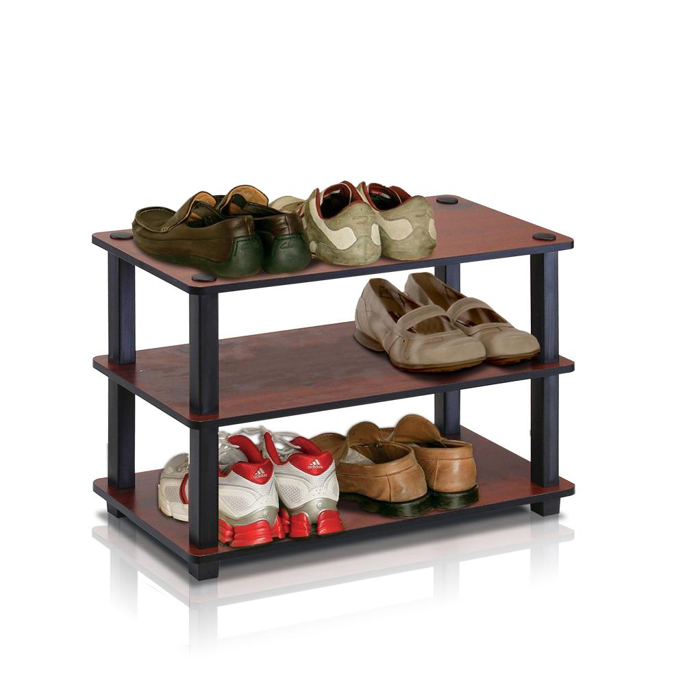 Turn-S-Tube 9-Pair Dark Cherry Shoe Rack