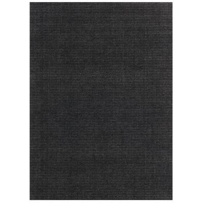 Checkmate Charcoal/Black 6 ft. x 8 ft. Indoor/Outdoor Area Rug