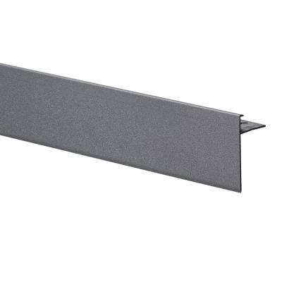 Novoperi Grey Oxide 3/8 in. x 98-1/2 in. Aluminum Tile Edging Trim