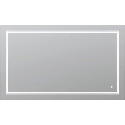 SOHO 60 in. W x 36 in. H Frameless Bathroom Mirror with LED Lighting and Mirror Defogger