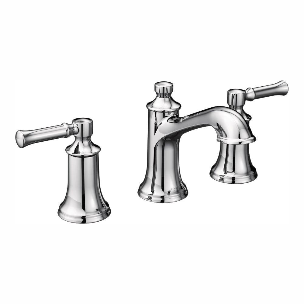 Dartmoor 8 in. Widespread 2-Handle Bathroom Faucet in Chrome (Valve Not Included)