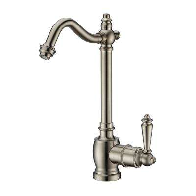 Single-Handle Cold Water Dispenser with Traditional Spout in Brushed Nickel
