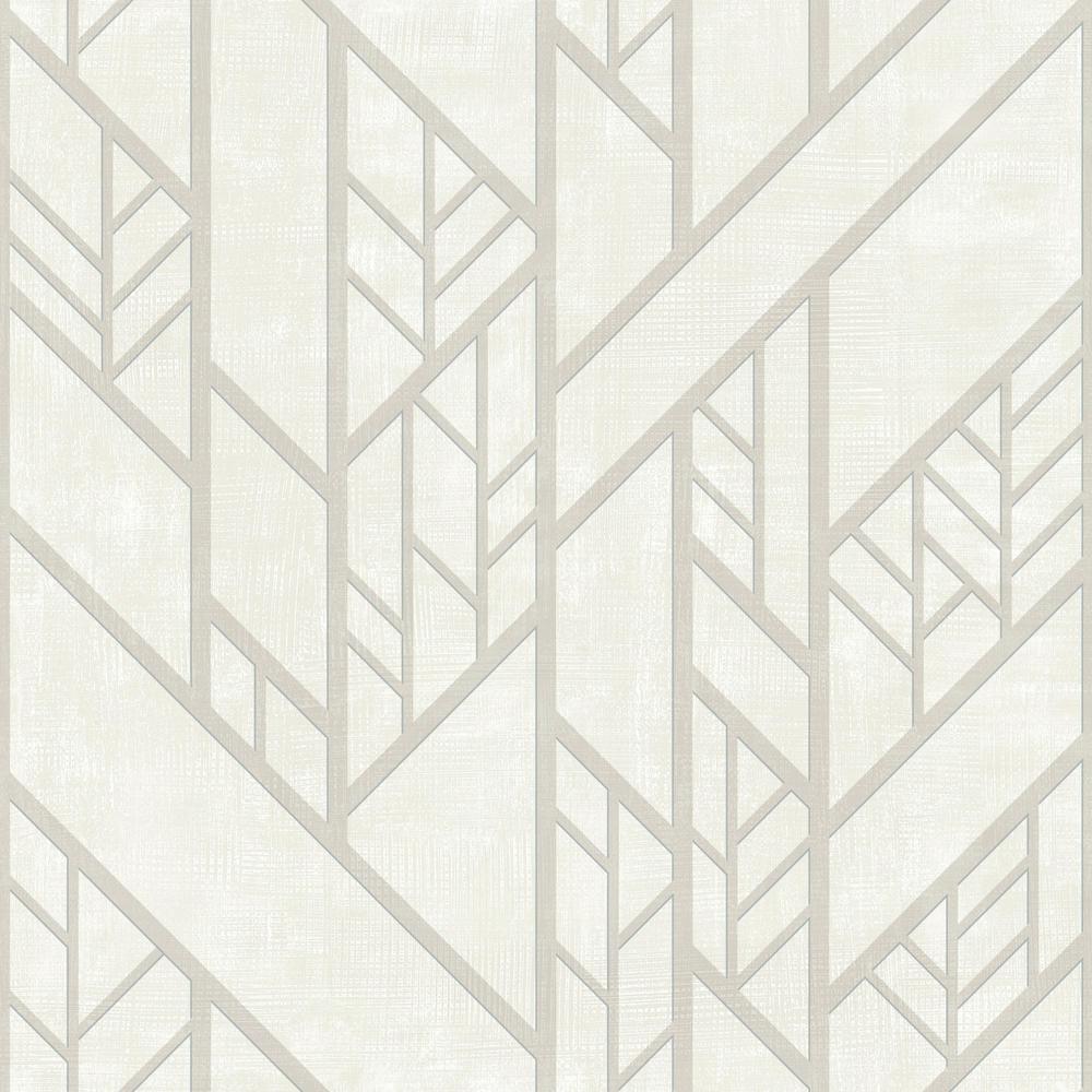 56 sq. ft. Industrial Grid Wallpaper