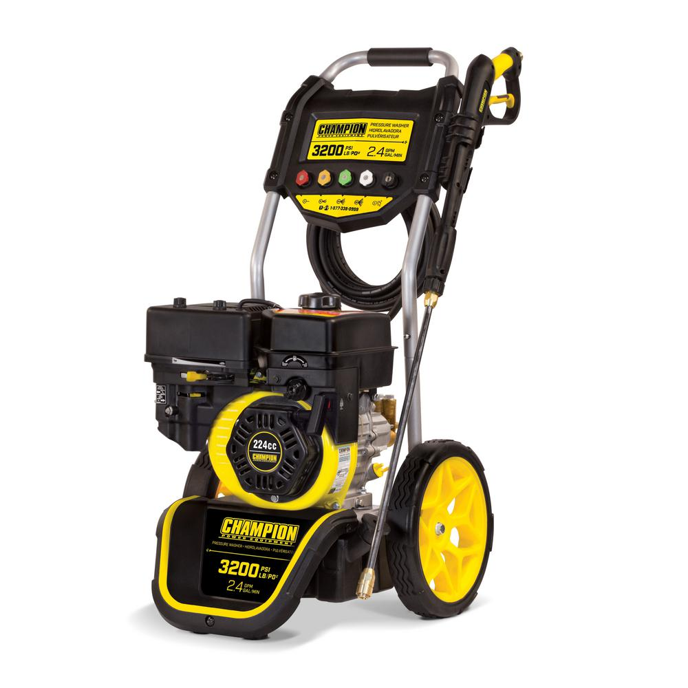 Champion Power Equipment 3200 psi 2.4 GPM Gas Powered Dolly Style Pressure Washer