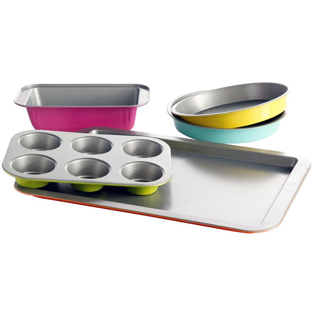 Color Splash Lyneham 5-Piece Carbon Steel Bakeware Set