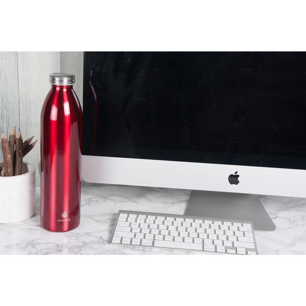 Retro 32 oz. Metallic Red Vacuum Insulated Stainless Steel Bottle