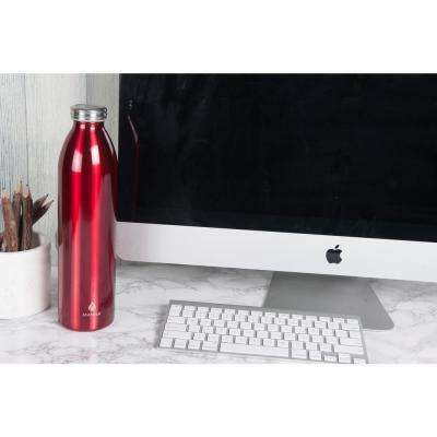 Retro 32 oz. Metallic Red Vacuum Insulated Stainless Steel Bottle