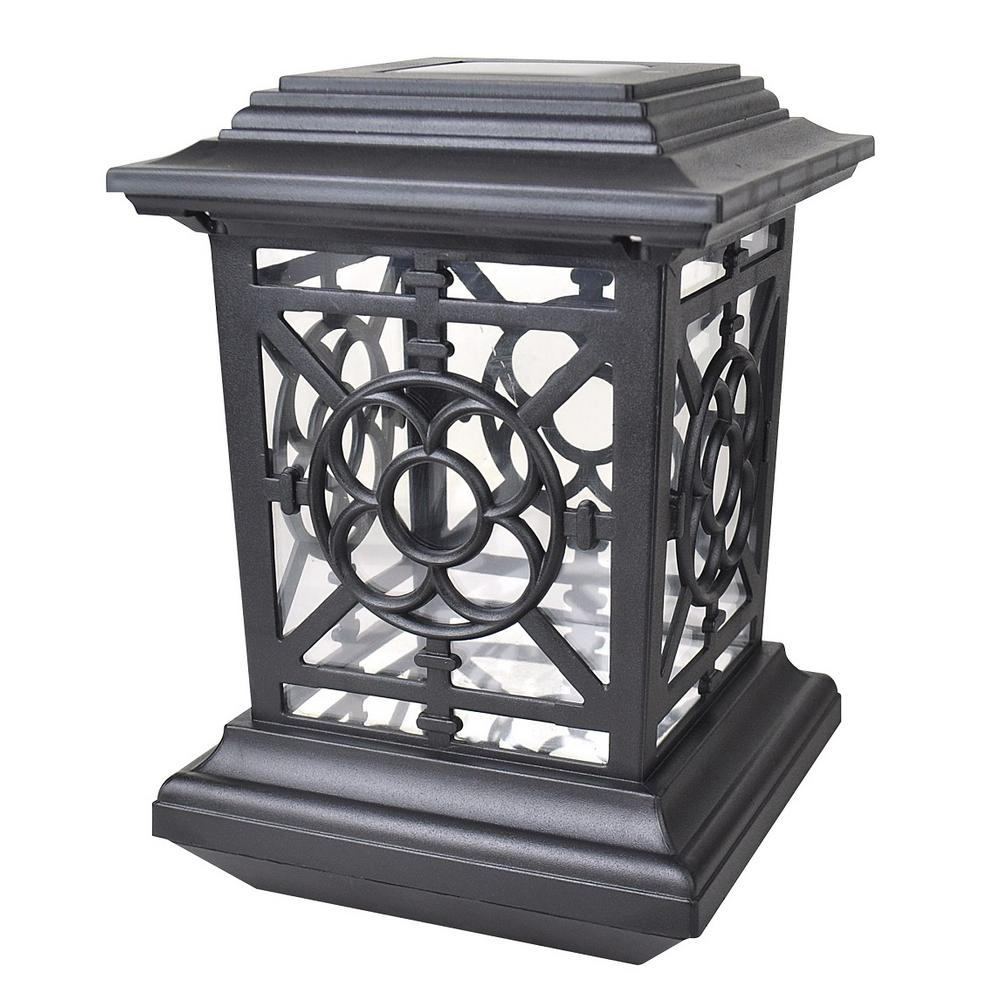Moonrays 1 Light Black Outdoor Led Solar Powered Post Cap: Moonrays Bancroft-Style Solar Black Outdoor Integrated LED