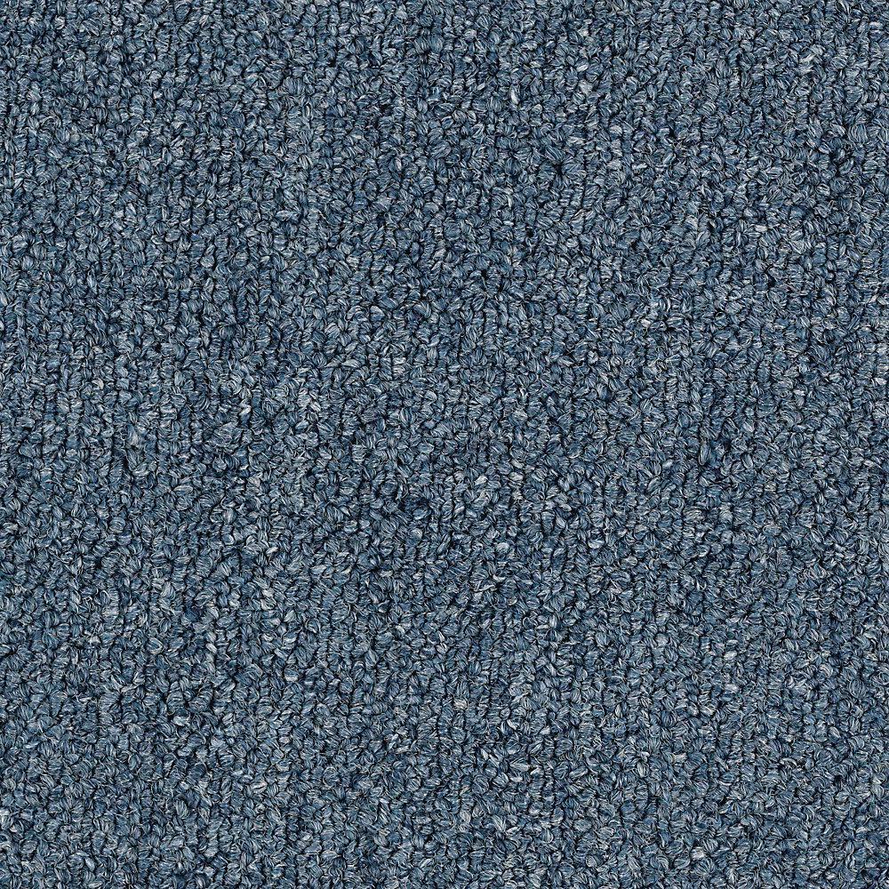 Carpet Sample - Top Rail 26 - Color Loyal Blue Loop 8 in. x 8 in.