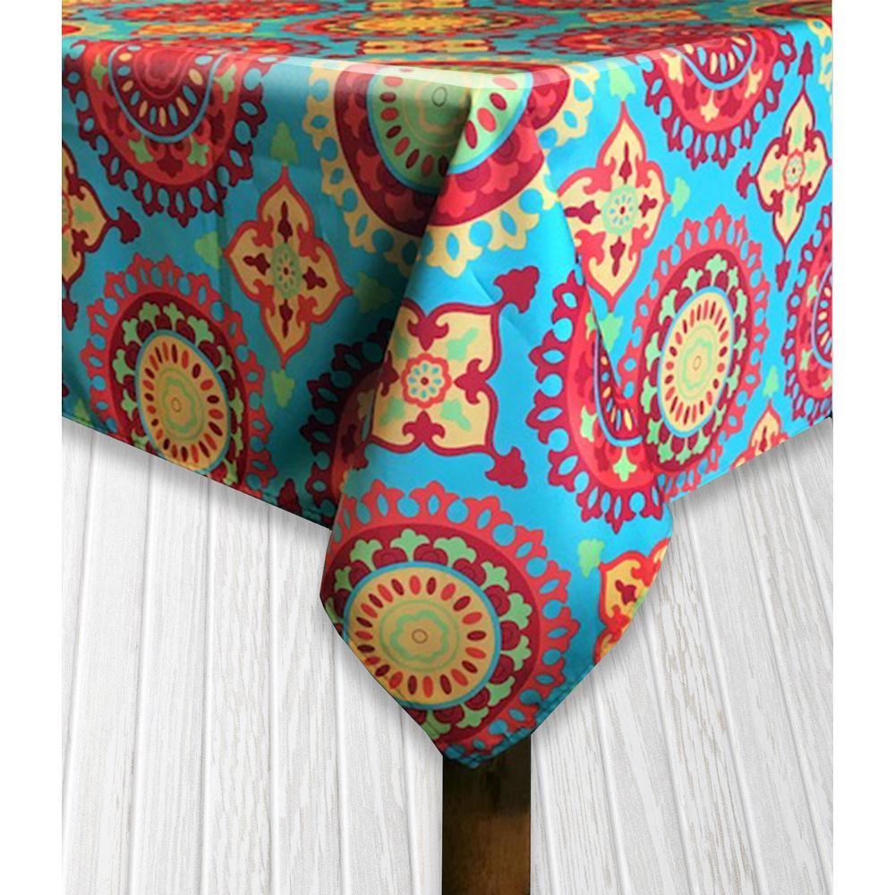 Indoor/Outdoor 60 in. x 104 in. Marrakesh Polyester Tablecloth