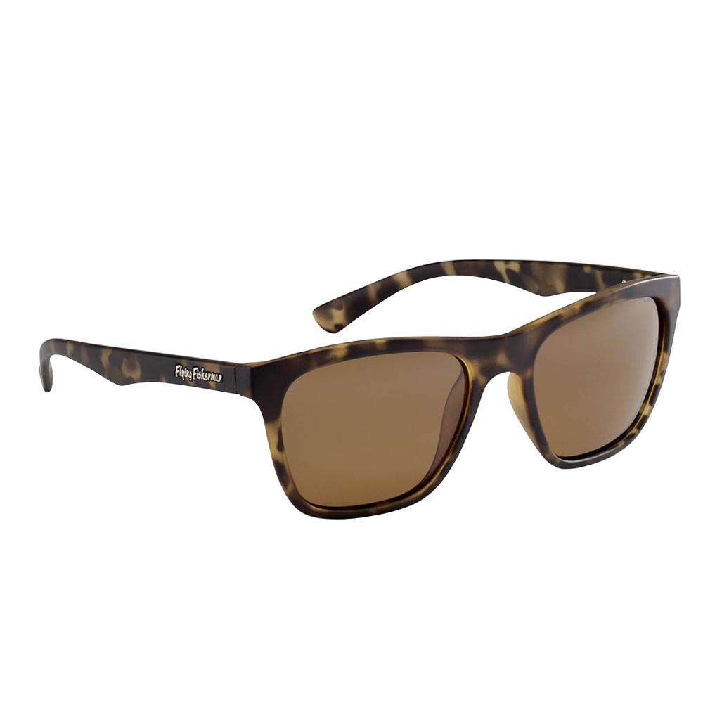 Fowey Polarized Sunglasses Tortoise Frame with Amber Lens