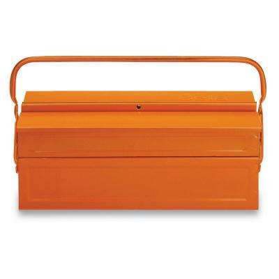 8 in. x 18 in. Cantilever Sheet Metal Tool Box in Orange