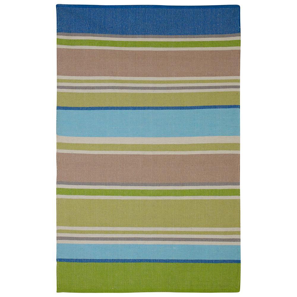 Hope - Multi - Blue & Green (4' x 6') - Cotton